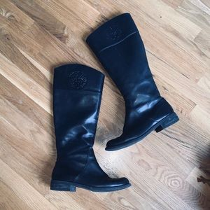 Vince Camuto black leather riding boots. Like new